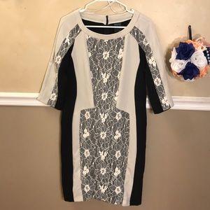 Gabby Skye lace insert dress